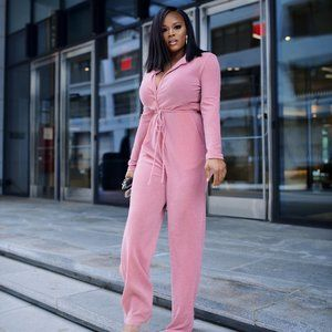 Miss Circle Pink Jumpsuit